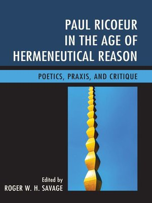 cover image of Paul Ricoeur in the Age of Hermeneutical Reason