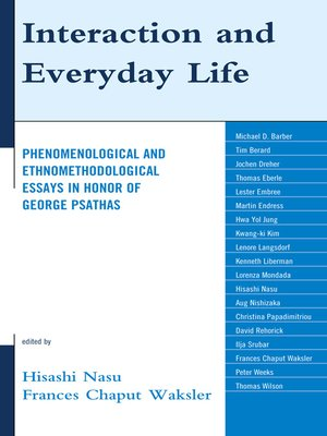cover image of Interaction and Everyday Life