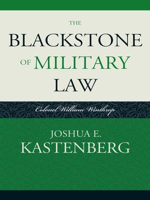 cover image of The Blackstone of Military Law