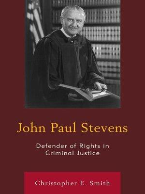 cover image of John Paul Stevens