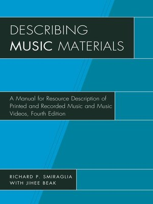 cover image of Describing Music Materials