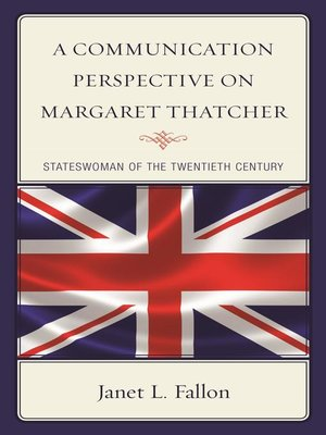 cover image of A Communication Perspective on Margaret Thatcher