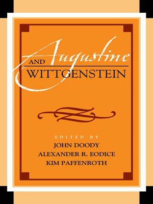 cover image of Augustine and Wittgenstein