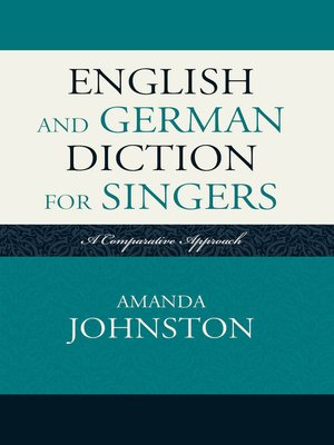 cover image of English and German Diction for Singers