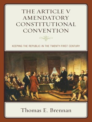 cover image of The Article V Amendatory Constitutional Convention