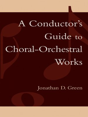 cover image of A Conductor's Guide to Choral-Orchestral Works