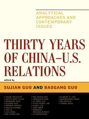 cover image of Thirty Years of China - U.S. Relations