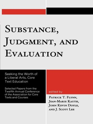 cover image of Substance, Judgment, and Evaluation