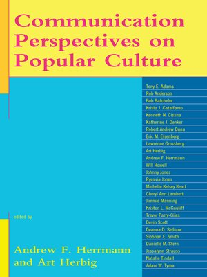 cover image of Communication Perspectives on Popular Culture