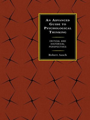 cover image of An Advanced Guide to Psychological Thinking