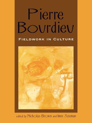 cover image of Pierre Bourdieu