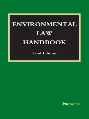cover image of Environmental Law Handbook