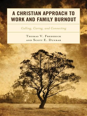 cover image of A Christian Approach to Work and Family Burnout