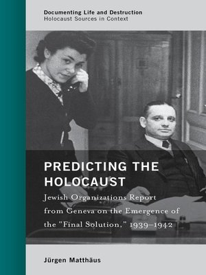 cover image of Predicting the Holocaust