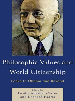 cover image of Philosophic Values and World Citizenship
