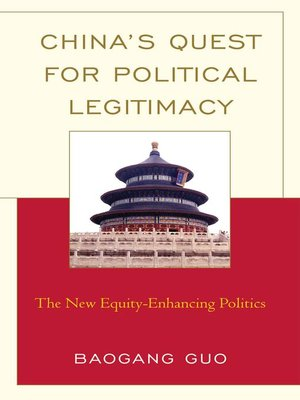 cover image of China's Quest for Political Legitimacy