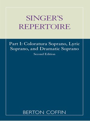 cover image of The Singer's Repertoire, Part I