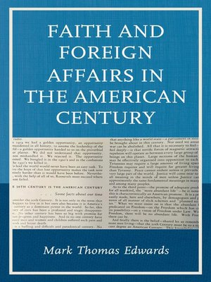 cover image of Faith and Foreign Affairs in the American Century