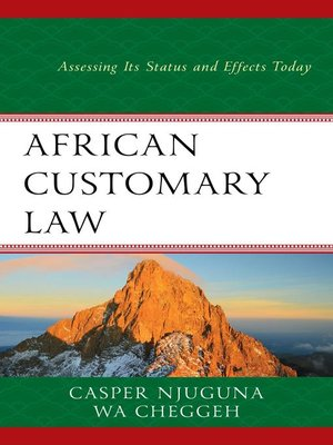 cover image of African Customary Law