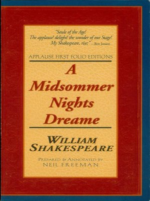 cover image of A Midsommer Nights Dreame