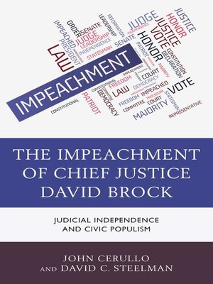 cover image of The Impeachment of Chief Justice David Brock