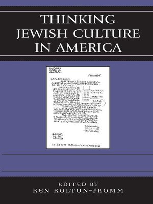 cover image of Thinking Jewish Culture in America