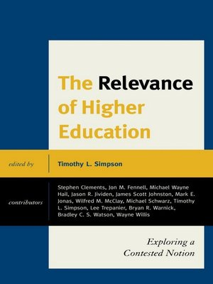 cover image of The Relevance of Higher Education