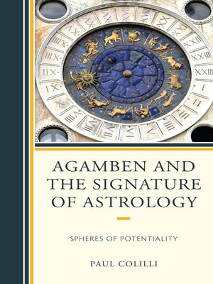 cover image of Agamben and the Signature of Astrology