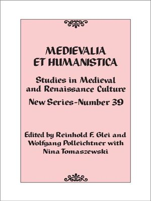 cover image of Medievalia et Humanistica, No. 39