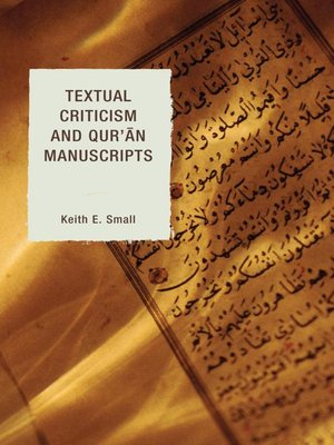 cover image of Textual Criticism and Qur'an Manuscripts
