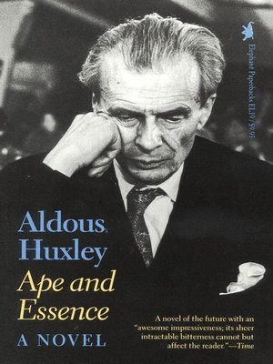 cover image of Ape and Essence