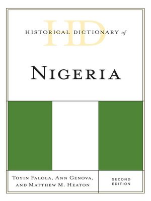cover image of Historical Dictionary of Nigeria