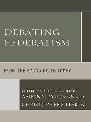 cover image of Debating Federalism