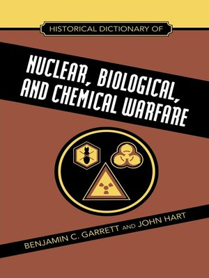 cover image of Historical Dictionary of Nuclear, Biological and Chemical Warfare