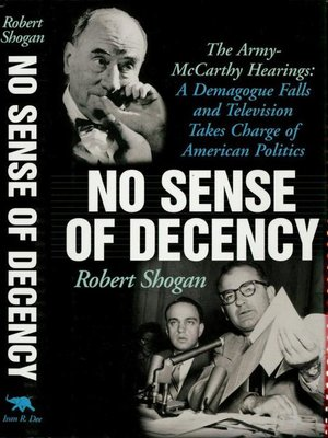 cover image of No Sense Of Decency