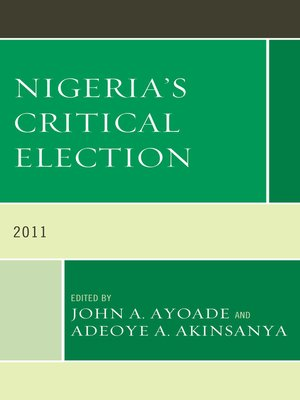 cover image of Nigeria's Critical Election
