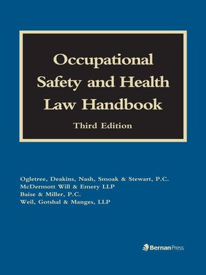 cover image of Occupational Safety and Health Law Handbook