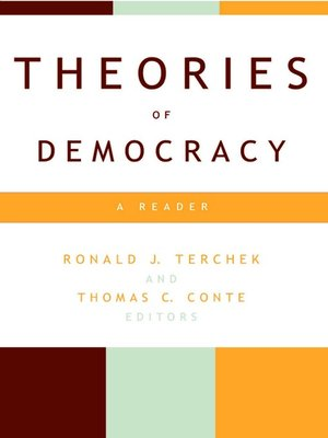 cover image of Theories of Democracy