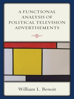 cover image of A Functional Analysis of Political Television Advertisements