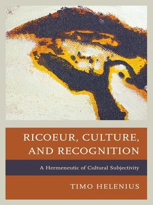 cover image of Ricoeur, Culture, and Recognition