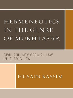 cover image of Hermeneutics in the Genre of Mukhta?ar