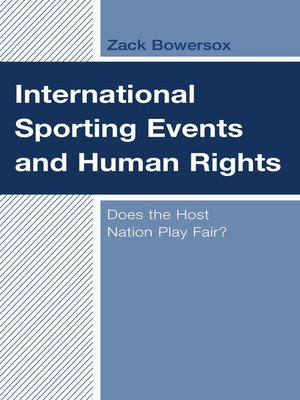 cover image of International Sporting Events and Human Rights