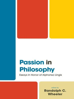 cover image of Passion in Philosophy