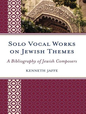 cover image of Solo Vocal Works on Jewish Themes