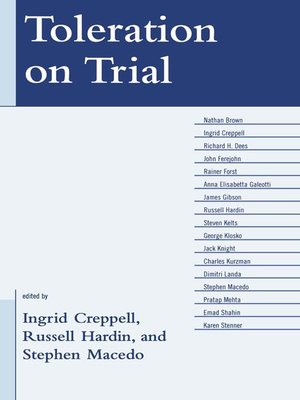 cover image of Toleration on Trial