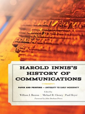 cover image of Harold Innis's History of Communications