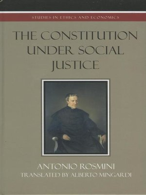 cover image of The Constitution Under Social Justice