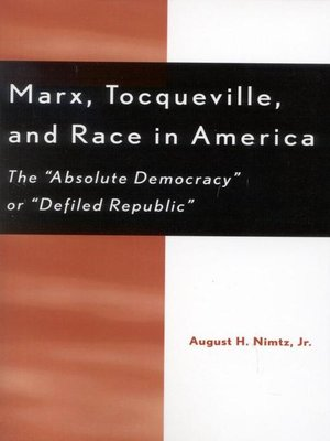 cover image of Marx, Tocqueville, and Race in America