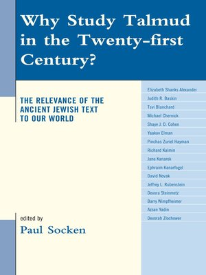 cover image of Why Study Talmud in the Twenty-First Century?