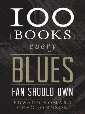 cover image of 100 Books Every Blues Fan Should Own